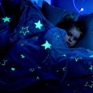 """⭐️NEW⭐️GLOW in the DARK⭐️Soft/Cozy Blanket 50""""x60"""""""